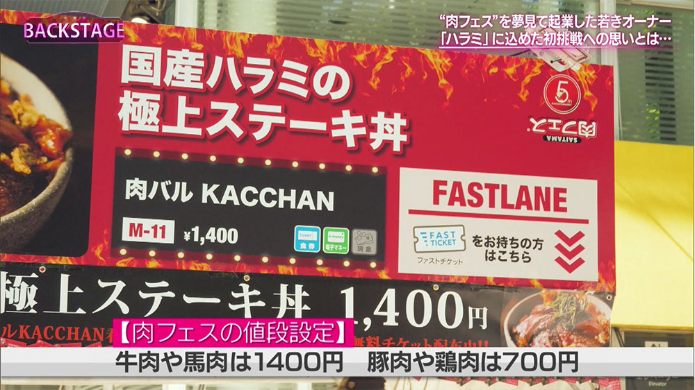肉フェスの値段設定