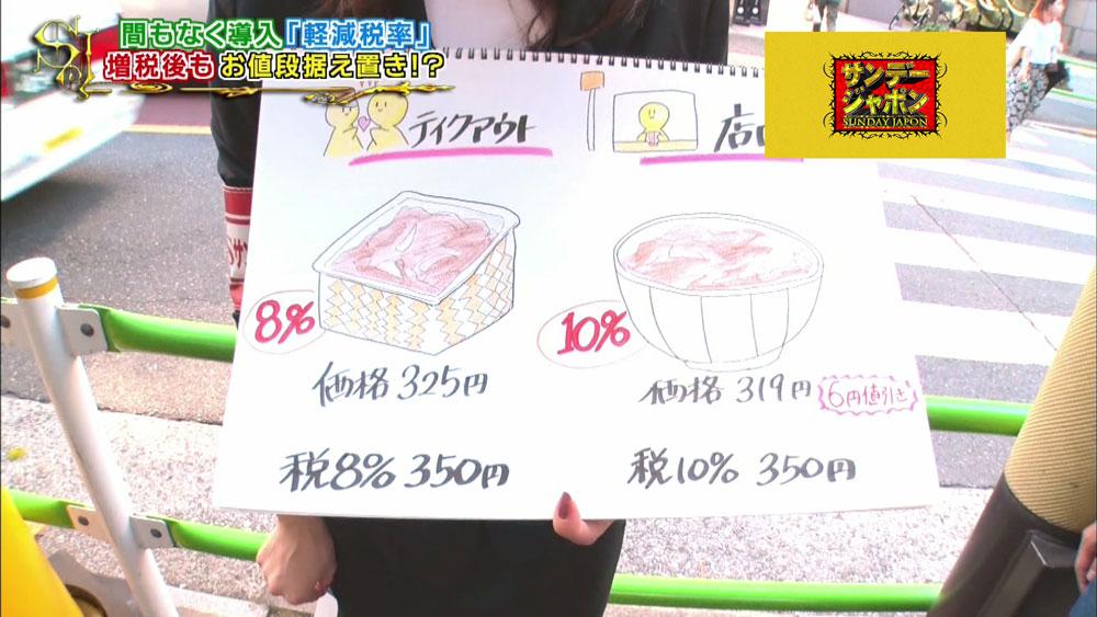 テイクアウトと店内飲食の価格を統一